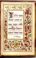 PREMIERE COMMUNION Marguerite THIBAUDEAU 07 Juin 1888 Pensionnat Ste Angèle Des Soeurs De Nevers Voir Scans - Comunión Y Confirmación