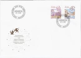 Switzerland Swiss Schweiz Svizzera Helvetia 1984 FDC Zodiac Signs Signes Du Zodiaque Sagittarius Capricorn, Bern - FDC