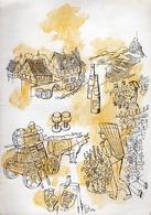 Fa. H. C. Wyers C.v. Dordrecht - Holland -   Antwoord-Kaart (Carte-Réponse Illustrée En Couleurs) - Vers 1960 - Cuisine & Vins