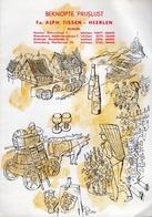 Beknopte Prijslijst - Fa. Alph. Tissen - Heerlen (Pays-Bas) Geleenstraat 7 - Vers 1960 - Cuisine & Vins