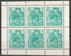 DDR - 1959 - Minifoglio Con 6 Valori Yvert434a Nuovi Senza Gomma. - [6] Repubblica Democratica