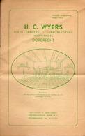 H. C. Wyers Distilleerderij - Likeurstokerij Wijnhandel Dordrecht (Pays-Bas) - Maart 1953 - Cuisine & Vins