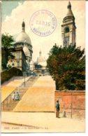 75018 PARIS - Montmartre - Le Sacré-Cœur - Colorisation Dans Les Tons Pastel - District 18
