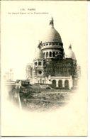 75018 PARIS - Montmartre - Le Sacré-Cœur Et Le Funiculaire - échafaudage Pour La Mise En Place Du Christ - District 18