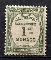 MONACO 1924 / 1932 N° 13 -  Timbre Taxe NEUF** /2 - Impuesto