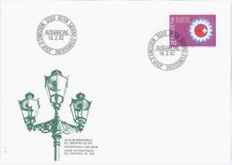Switzerland Swiss Schweiz Svizzera Helvetia 1982 FDC Union Internationale De L'Industrie Du Gaz, Gas Union, Bern - FDC
