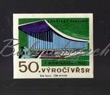 L1-180 CZECHOSLOVAKIA 1967-50th Anniversary October Revolution  1967 International And Universal Exposition Or Expo 67 - Zündholzschachteletiketten