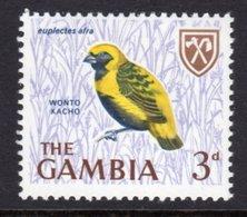 GAMBIA 1966 3d GOLDEN BISHOP BIRD STAMP FINE MNH ** SG 237 - Gambia (1965-...)