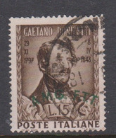 Trieste Allied Military Government S 34 1948 Donizetti Used - 7. Trieste