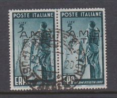 Trieste Allied Military Government S 43 1949 Program Of Reconstruction Of Europe 5l Pair Used - 7. Trieste