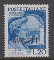 Trieste Allied Military Government S 55 1949 Catullus Death Bimillenary Mint - 7. Trieste