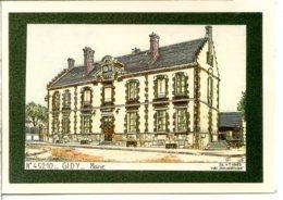 45520 GIDY - Dessin De La Mairie, Cadre Gris Foncé - écrite - France