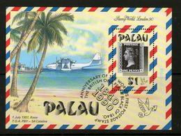 PALAU 1990 150 ANS DU TIMBRE-AVIONS   YVERT N°B7   NEUF MNH** - Palau