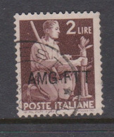 Trieste Allied Military Government S 57 1949 Democratica 2 Lire Brown Used - 7. Trieste