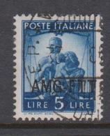 Trieste Allied Military Government S 59 1949 Democratica 5 L Blue Used - 7. Trieste