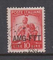 Trieste Allied Military Government S 62 1949 Democratica 10 L Orange Used - 7. Trieste