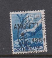 Trieste Allied Military Government S 63 1949 Democratica 15 Lire Blue Used - 7. Trieste
