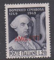 Trieste Allied Military Government S 68 1949 Birth Bicentenary Of Domenico Cimarosa Mint - 7. Trieste