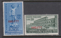 Trieste Allied Military Government S 71-72 1950  5th UNESCO Conference Mint - 7. Trieste