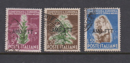 Trieste Allied Military Government S 84-86 1950 Tobacco European Conference Used - 7. Trieste
