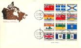 1979  Flags Of Provinces And Territories  Sc 821-32  Sheet Of 12 - Omslagen Van De Eerste Dagen (FDC)