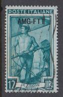 Trieste Allied Military Government S 96 1950 Regional Workers 12 Lire Il Timone Veneto,used - 7. Trieste