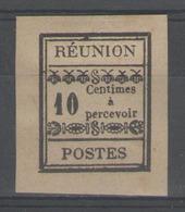 REUNION:  Taxe N°2 NSG (signé Calves)         - Cote 45€ - - Réunion (1852-1975)