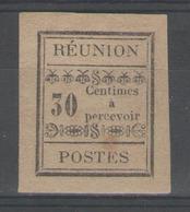 REUNION:  Taxe N°5 NSG (signé Calves)         - Cote 40€ - - Réunion (1852-1975)
