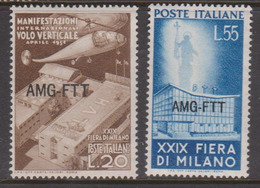 Trieste Allied Military Government S 112-113 1951 29th Milan Fair Mint Never Hinged - 7. Trieste