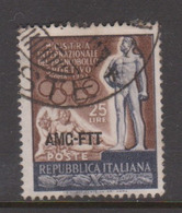 Trieste Allied Military Government S 142 1952 First International Exhibition Of Sport Stamps,used, - 7. Trieste
