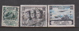Trieste Allied Military Government S157-159 1952 Armed Forces Day,used - 7. Trieste