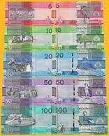 Gambia Set 5, 10, 20, 50, 100 Dalasis P-new 2019 UNC Banknotes - Gambia