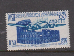 Trieste Allied Military Government S155 1952 ICAO Conference,mint Never Hinged - 7. Trieste
