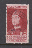 Trieste Allied Military Government S164  1953 Antonello Da Messina,used - 7. Trieste