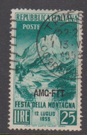 Trieste Allied Military Government S181 1953 Festival Of The Mountain,used - 7. Trieste