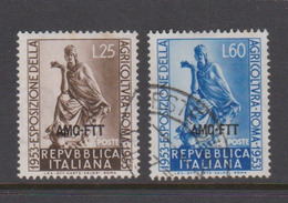 Trieste Allied Military Government S182-83  1953 Agriculture Exposition,used - 7. Trieste