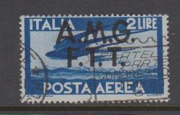Trieste Allied Military Government PA 2 1945-46 Serie Democratica,2 Lire Blue,used, - 7. Trieste