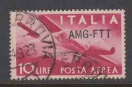 Trieste Allied Military Government PA 20  1949-52 Serie Democratica,10 Lire Rose Red,used - 7. Trieste