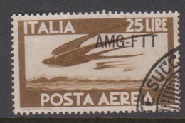 Trieste Allied Military Government PA 21  1949-52 Serie Democratica,25 Lire Brown,used - 7. Trieste
