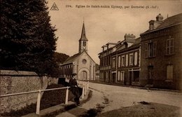 76-EGLISE DE ST-AUBIN EPINAY,PAR DARNETAL  .CPA ANIMEE - Altri Comuni