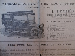 LOURDES TOURISTE VOITURES DE LOCATION POMMES - Reclame