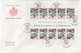 Enveloppe  FDC  Grand  Format  1er  Jour   MONACO   Bloc   Feuillet    EUROPA   1988 - Europa-CEPT