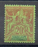 GUADELOUPE - YT N° 33 - Neuf * - MH - Cote: 14,00 € - Guadeloupe (1884-1947)