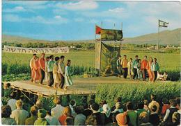 1969 Kibbutz Hagoshrim New Year Holidays Festival Israel Postcard Folk Dances - Israele