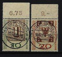 BUND Mi-Nr. 310 B + 311 B Oberrandstücke INTERPOSTA Gestempelt (1) - BRD