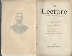 La Lecture Magazine Littéraire  De  1895.n: 33 - Bücher, Zeitschriften, Comics