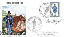 FDC 1er Jour : Journée Du Timbre   16/03/1968 N° 1549 Signé Pierre BEQUET - 1960-1969