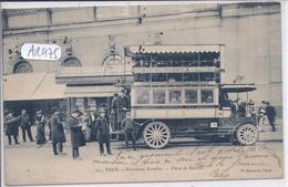 PARIS- NOUVEAUX AUTOBUS- SERVICE DE LA GARE DES BATIGNOLLES A LA GARE MONTPARNASSE- PLACE DE RENNES - Trasporto Pubblico Stradale
