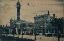 Gent - Gand // LA Nouvelle Gare De Gand St. Pierre (koetsen) 1924 - Gent