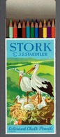 Cigogne Boîte De 12 Crayons De Couleur Coloured Chalk Pencils Stork JS Staedtler - Andere Verzamelingen
